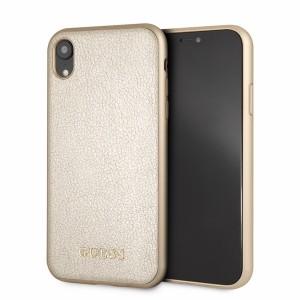 Guess Iridescent Hardcover / Schutzhülle für iPhone XR Gold