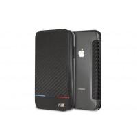 BMW Bi-Material Carbon Book Cover / Tasche für iPhone XR Schwarz
