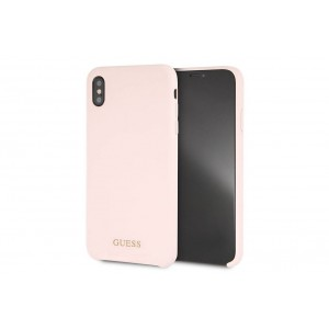Guess Silicone Cover / Hülle für iPhone XS Max Rose