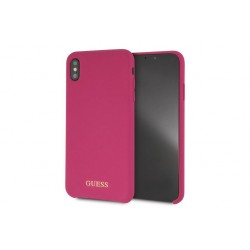 Guess Silicone Cover / Hülle für iPhone XS Max Pink
