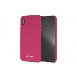 Guess Silicone Cover / Hülle für iPhone XR Pink