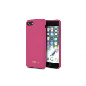 Guess Silicone Hüller / Cover für iPhone 8 / 7 Pink