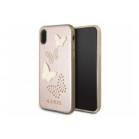 Guess Studs and Sparkles Hülle / Hardcover für iPhone X / Xs Rose / Gold