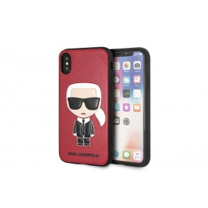Karl Lagerfeld Silikon Cover / Hülle für iPhone X / Xs Rot