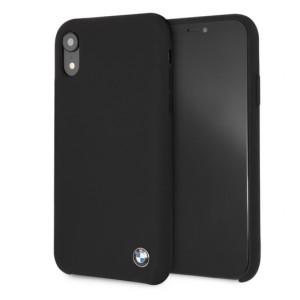 BMW Silikon Cover / Hülle für iPhone XR Schwarz