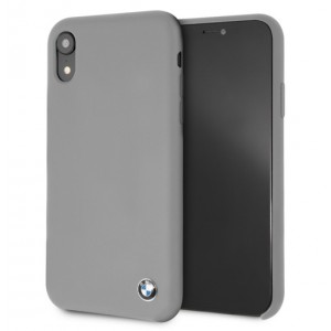 BMW Silikon Cover / Hülle für iPhone XR Grau