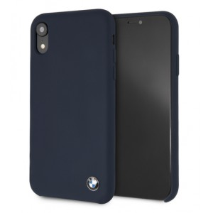 BMW Silikon Cover / Hülle für iPhone XR Navy