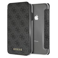 Guess Charms Tasche / Book Cover für iPhone XS Max Grau