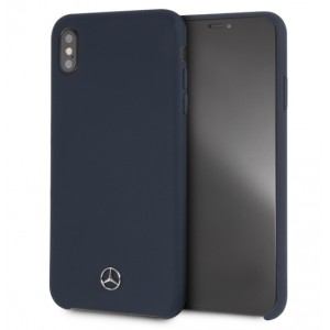Mercedes Benz Silikon Cover / Hülle für iPhone Xs Max Navy