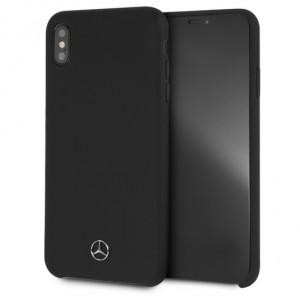 Mercedes Benz Silikon Cover / Hülle für iPhone Xs Max Schwarz