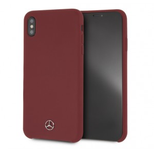 Mercedes Benz Silikon Cover / Hülle für iPhone Xs Max Rot
