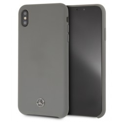 Mercedes Benz Silikon Cover / Hülle für iPhone Xs Max Grau