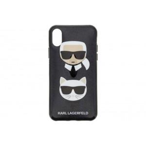 Karl Lagerfeld Silikon Cover / Hülle für iPhone X / Xs Schwarz