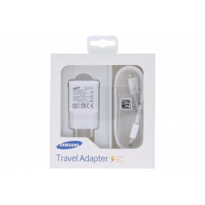 Original Samsung EP-TA20EWEUGWW USB Ladegerät + Ladekabel Micro USB Weiss