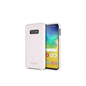 Guess Liquid Silicon Hülle für Samsung Galaxy S10e Pink