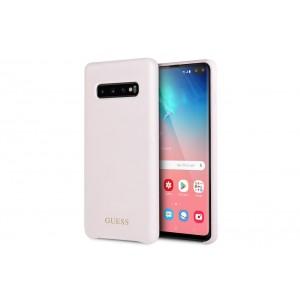 Guess Liquid Silicon Hülle für Samsung Galaxy S10+ Plus Pink