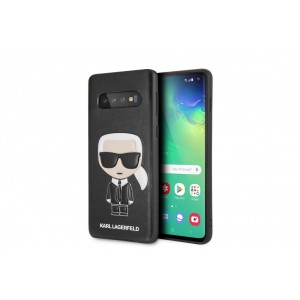 Karl Lagerfeld Iconic Hülle / Cover Samsung Galaxy S10 Schwarz