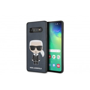 Karl Lagerfeld Iconic Hülle / Cover Samsung Galaxy S10 Blau