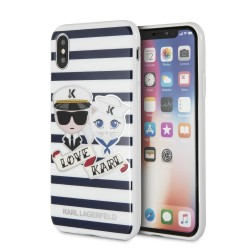 Karl Lagerfeld Stripes Hülle für iPhone XS / Xs