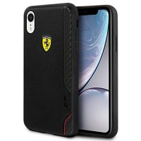 Ferrari On Track Bi-Material Cover / Hülle iPhone XR Schwarz
