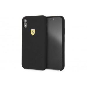 Ferrari SF Silikon Cover / Hülle für iPhone XR Schwarz