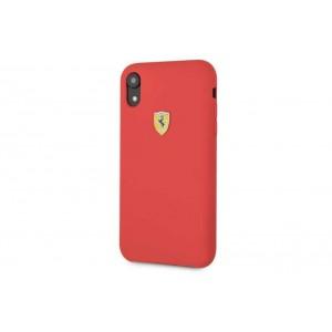 Ferrari SF Silikon Cover / Hülle für iPhone XR Rot
