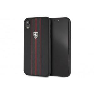 Ferrari Off Track Lederhülle / Cover für iPhone XR Schwarz