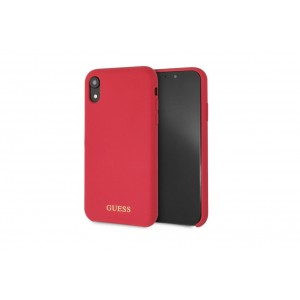 Guess Silicone Cover / Hülle für iPhone XR Rot