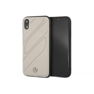 Mercedes Benz Organic II Echtleder Hülle / Cover iPhone XR Taupe