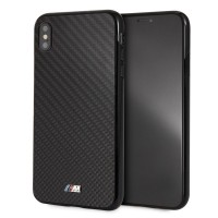 BMW M Serie Carbon Hülle / Hardcover iPhone Xs Max Schwarz