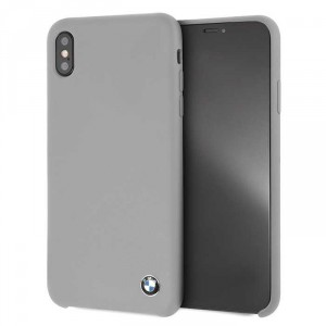 BMW Silikon Cover / Hülle iPhone Xs Max Grau