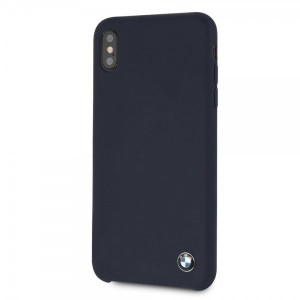 BMW Silikon Cover / Hülle iPhone Xs Max Navy