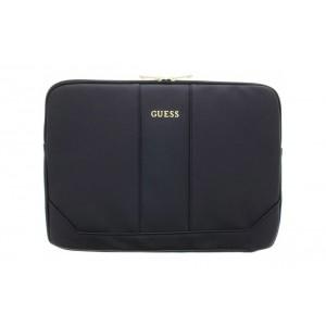 "Guess Saffiano Notebook / Laptop Tablet / iPad Tasche bis 13"" Schwarz"