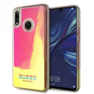 Guess Hülle Califonia Glow in The Dark für Huawei P Smart 2019 Transparent / Rose