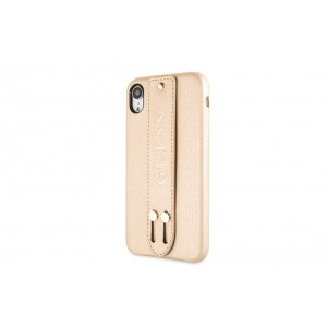 Guess Saffiano Strap iPhone XR Hülle Beige