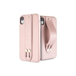 Guess Saffiano Strap iPhone XR Hülle Rose Gold
