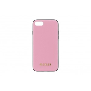 Guess Saffiano Hülle / Case iPhone 8 / 7 Rose
