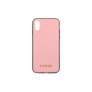 Guess Saffiano Hülle / Case iPhone X / Xs Rose