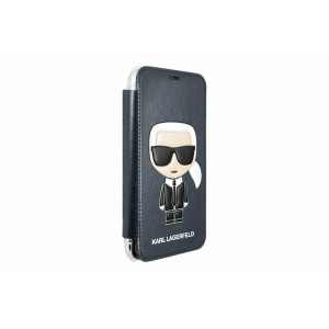 Karl Lagerfeld Tasche / Book Cover Karl Iconic iPhone XS / X Blau