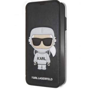 Karl Lagerfeld Tasche / Book Cover Karl Space / Cosmonaut iPhone XS / X Schwarz