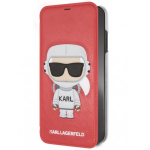 Karl Lagerfeld Tasche / Book Cover Karl Space / Cosmonaut iPhone XS / X Rot