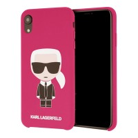 Karl Lagerfeld Silicone Hülle Karl Iconic iPhone Xr Pink