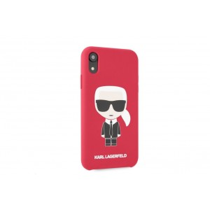 Karl Lagerfeld Silicone Hülle Karl Iconic iPhone Xr Rot