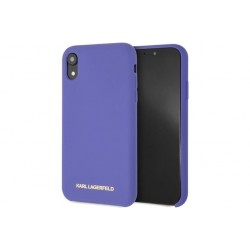 Karl Lagerfeld Silicone Hülle Soft Touch iPhone Xr Violet