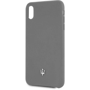 Maserati Silicone Hülle Soft Touch iPhone Xs Max Grau