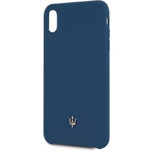 Maserati Silicone Hülle Soft Touch iPhone Xs Max Navy