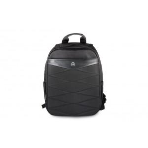 """Mercedes Pattern III Laptop / Notebook Rucksack bis 15"""" Schwarz"""