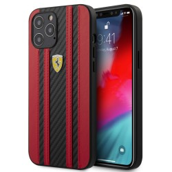 Ferrari iPhone 12 / 12 Pro 6,1 On Track Carbon Schtzhülle Schwarz / Rot