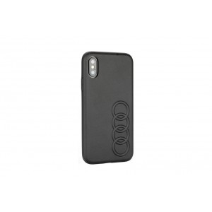 Audi Lederhülle / Cover iPhone XR TT Serie Sythetic Schwarz