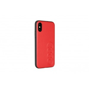 Audi Lederhülle / Cover iPhone XR TT Serie Sythetic Rot
